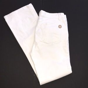 🌿Tory Burch Classic Fit White Jeans